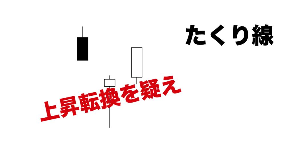 たくり線は大底の可能性大_反転上昇の見極めポイント解説